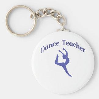 Profesor Jete de la danza Llavero Redondo Tipo Pin