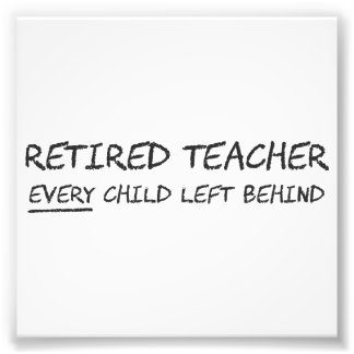 Profesor jubilado CADA niño dejado detrás Fotografias