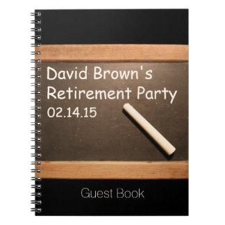 Profesor jubilado - libro de visitas del fiesta de libros de apuntes con espiral