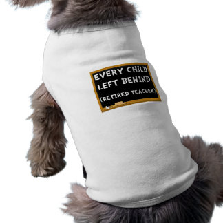 Profesor jubilado playera sin mangas para perro
