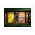 Profesor - libros que usted utiliza en escuela tarjetas postales