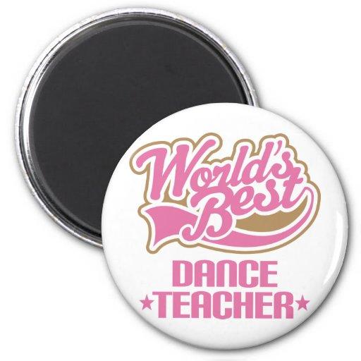 Profesor lindo de la danza iman para frigorífico