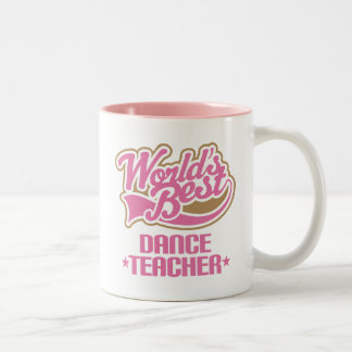 Profesor lindo de la danza tazas de café