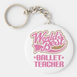 Profesor lindo del ballet llavero redondo tipo pin