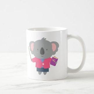 Profesor lindo del oso de koala del humor del taza de café