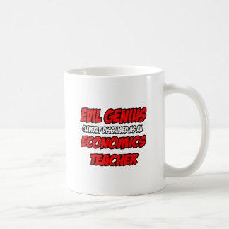 Profesor malvado de la economía del genio… taza de café