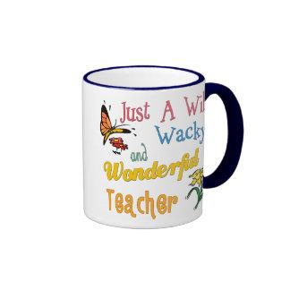 Profesor maravilloso raro salvaje taza de café