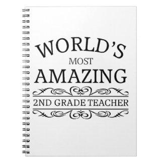 Profesor más asombroso del grado del mundo el 2do libros de apuntes