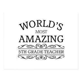 Profesor más asombroso del grado del mundo el 5to postal