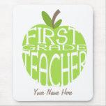 Profesor Mousepad - Apple verde del primer grado Alfombrilla De Raton