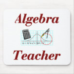 Profesor Mousepad de la álgebra Tapetes De Ratón
