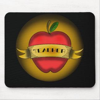 Profesor Mousepad - el vintage Apple tatúa Tapetes De Ratones