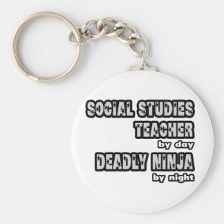 Profesor… muerto Ninja de los estudios sociales Llavero
