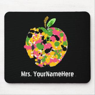 Profesor multicolor de Apple de la salpicadura de  Alfombrillas De Raton