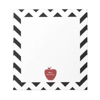 Profesor negro rojo de Apple Chevron Libreta Para Notas