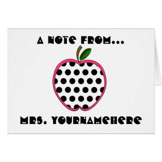 Profesor Notecard - lunar Apple Tarjeton