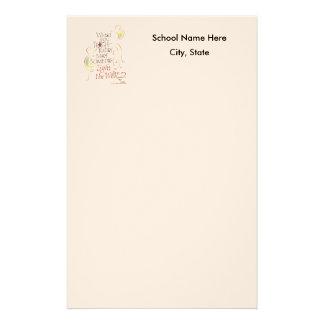 Profesor o escuela inmóvil papeleria