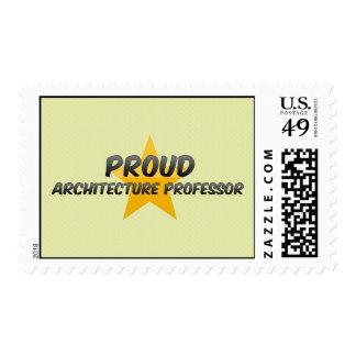 Profesor orgulloso de la arquitectura timbres postales