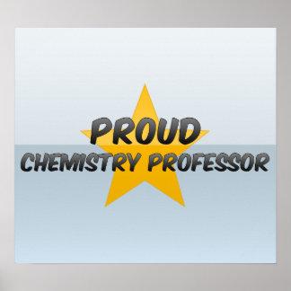 Profesor orgulloso de la química posters