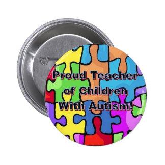 ¡Profesor orgulloso de niños con autismo! Pin