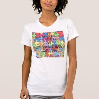 Profesor orgulloso de niños con autismo camisetas