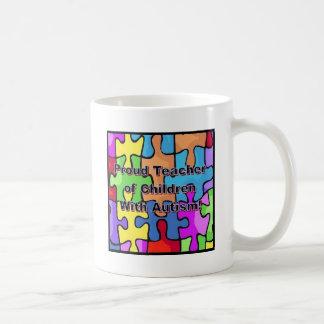¡Profesor orgulloso de niños con autismo! Taza De Café