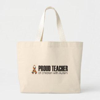 profesor orgulloso de niños con el bolso del autis bolsa tela grande