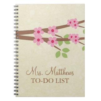 Profesor para hacer el cuaderno de la lista - flor