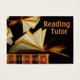 Profesor particular de la lectura tarjeta de negocios