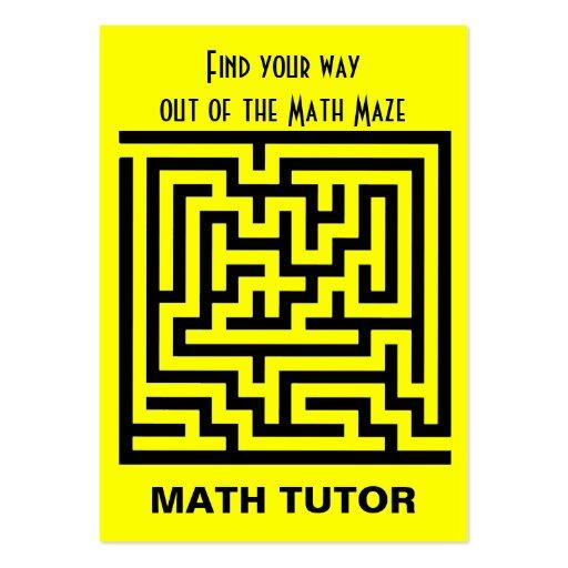 Profesor particular de la matemáticas tarjeta de visita