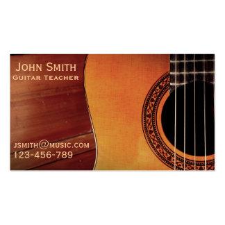 Profesor particular de la música del profesor de tarjetas de visita