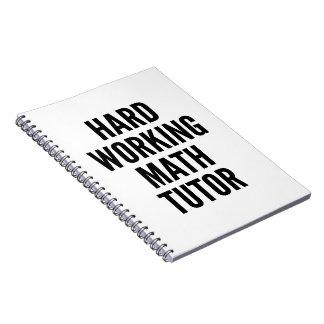 Profesor particular de trabajo duro de la spiral notebook
