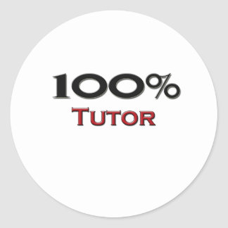 Profesor particular del 100 por ciento etiqueta redonda