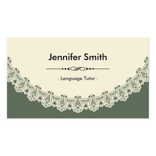 Profesor particular del idioma extranjero - cordón tarjetas de visita