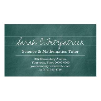 Profesor particular del profesor de la pizarra de tarjetas de visita
