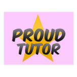 Profesor particular orgulloso tarjetas postales