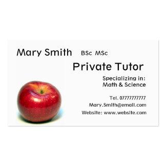 Profesor particular privado/profesor/negocio tarjetas de visita