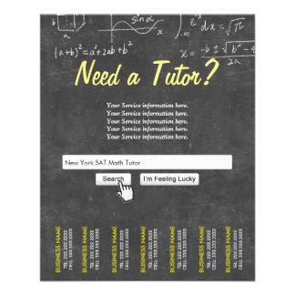 "Profesor particular profesional de la matemáticas folleto 4.5"" x 5.6"""