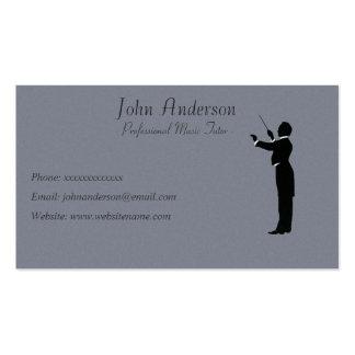 Profesor particular profesional de la música - tarjetas de visita