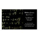 Profesor particular/profesor de la matemáticas de  tarjetas de visita