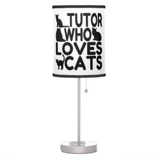 Profesor particular que ama gatos lámpara de escritorio