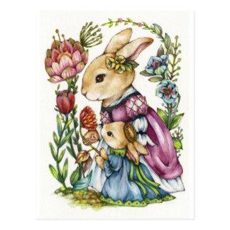 Profesor particular real - princesa Rabbit Art Tarjeta Postal