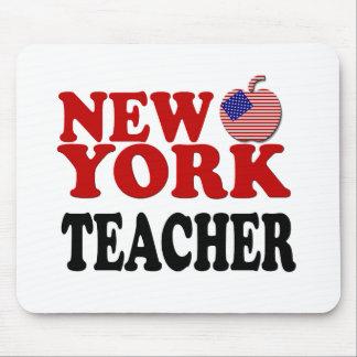 Profesor patriótico de Nueva York Tapetes De Raton