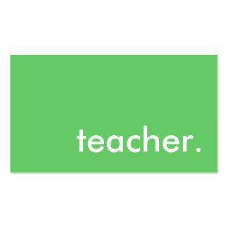 profesor. (personalizable del color) tarjetas de visita