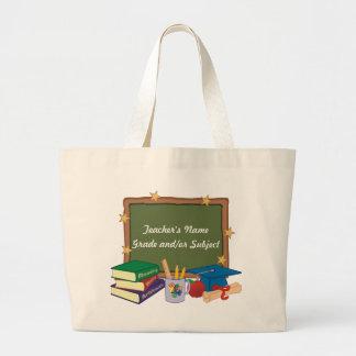 Profesor personalizado bolsa tela grande