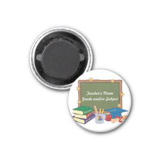 Profesor personalizado imán redondo 3 cm