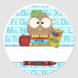 Profesor personalizado pegatina redonda