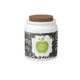 Profesor Pizarra-Verde de Apple Jarras Para Caramelos