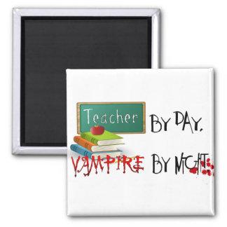 Profesor por día vampiro por noche imanes de nevera
