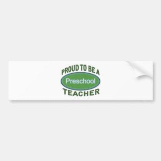 Profesor preescolar orgulloso pegatina para auto